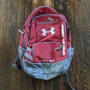 Maroon under armour backpack